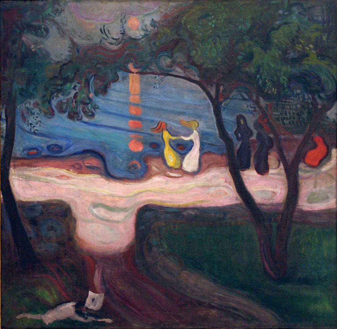 Edvard Munch, dance on the shore